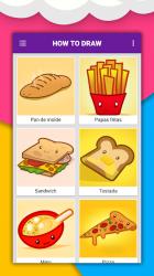 Imágen 4 de Cómo dibujar comida linda, bebidas paso a paso para android