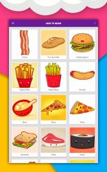 Screenshot 12 de Cómo dibujar comida linda, bebidas paso a paso para android