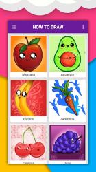 Captura de Pantalla 5 de Cómo dibujar comida linda, bebidas paso a paso para android