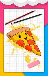 Captura 10 de Cómo dibujar comida linda, bebidas paso a paso para android