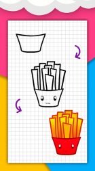 Captura 8 de Cómo dibujar comida linda, bebidas paso a paso para android