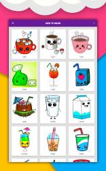 Captura 14 de Cómo dibujar comida linda, bebidas paso a paso para android