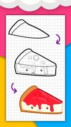 Captura 7 de Cómo dibujar comida linda, bebidas paso a paso para android
