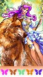 Captura 5 de Fairytale coloring book-Free paint by number para android