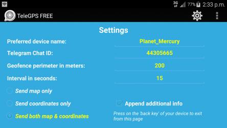 Screenshot 13 de GPS To Telegram Locator (FREE) para android