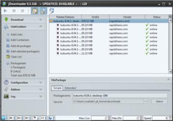 Screenshot 3 de JDownloader para windows