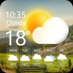 Screenshot 1 de Widget de súper clima - Pronóstico del tiempo Pro para android