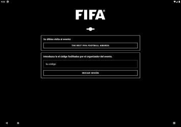 Captura de Pantalla 10 de FIFA Events Official App para android