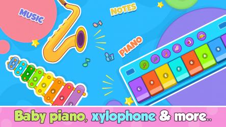 Captura de Pantalla 4 de Bebi piano, drums, xylophone.. para android