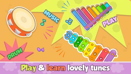 Imágen 3 de Bebi piano, drums, xylophone.. para android