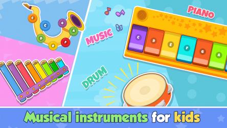 Screenshot 2 de Bebi piano, drums, xylophone.. para android
