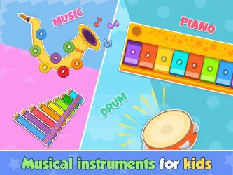 Imágen 12 de Bebi piano, drums, xylophone.. para android
