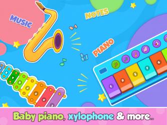 Captura de Pantalla 14 de Bebi piano, drums, xylophone.. para android
