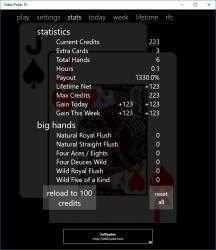 Captura de Pantalla 6 de Video Poker 10 para windows