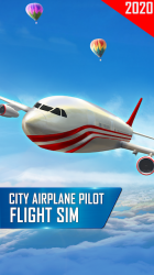 Captura de Pantalla 2 de Modern Airplane Pilot Flight Sim - New Plane Games para android
