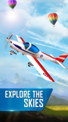 Captura 3 de Modern Airplane Pilot Flight Sim - New Plane Games para android