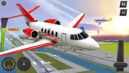 Captura de Pantalla 7 de Modern Airplane Pilot Flight Sim - New Plane Games para android