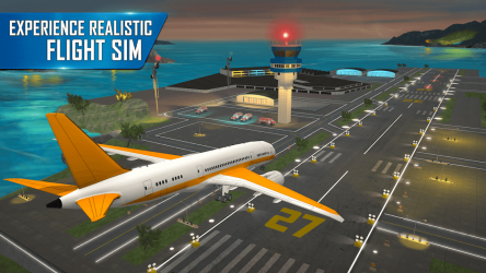 Screenshot 6 de Modern Airplane Pilot Flight Sim - New Plane Games para android
