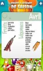 Captura de Pantalla 3 de Fruits & légumes para windows