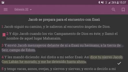 Captura de Pantalla 14 de Biblia Reina Valera 1960 Gratis en Español para android