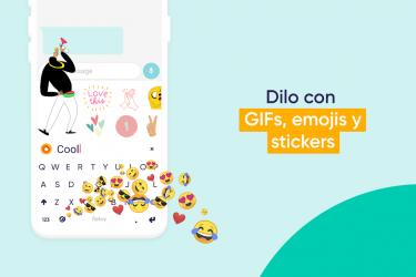 Imágen 3 de Fleksy - Teclado GIF, Emoji, Memes, Temas, Privado para android