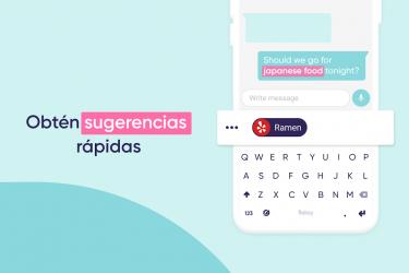 Screenshot 5 de Fleksy - Teclado GIF, Emoji, Memes, Temas, Privado para android