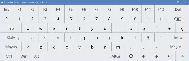 Captura 3 de Teclado Virtual para windows