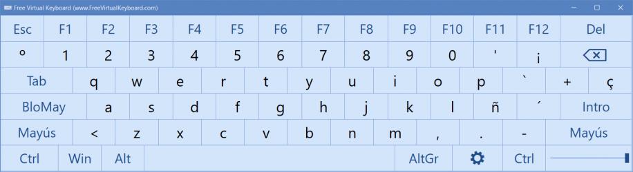 Screenshot 1 de Teclado Virtual para windows