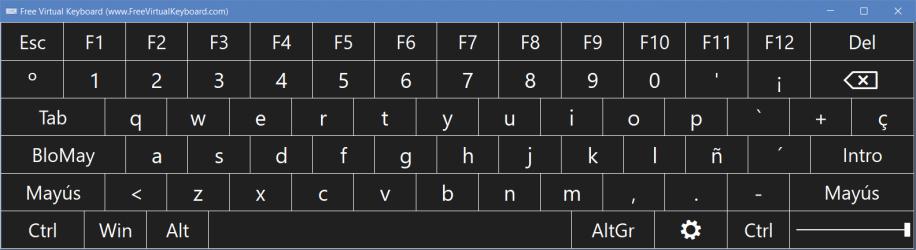 Captura de Pantalla 2 de Teclado Virtual para windows