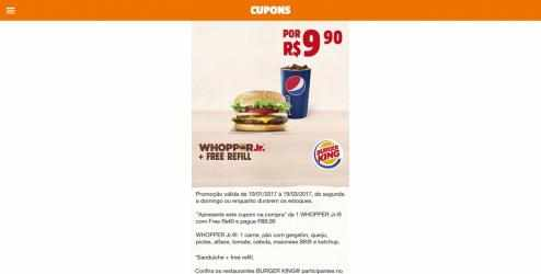 Captura de Pantalla 3 de Burger King Cupons para windows
