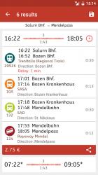 Captura de Pantalla 5 de Timetable South Tyrol para android