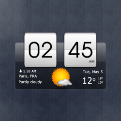 Captura 1 de Sense flip clock & weather para android