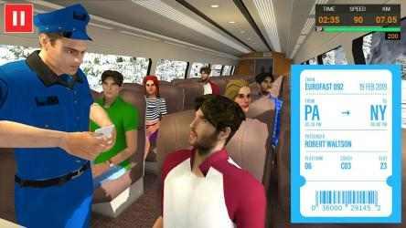 Imágen 2 de Euro Tren Simulador Gratis 2021 - Train Driving para android