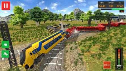 Captura de Pantalla 14 de Euro Tren Simulador Gratis 2021 - Train Driving para android