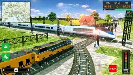 Screenshot 5 de Euro Tren Simulador Gratis 2021 - Train Driving para android
