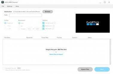 Screenshot 1 de GoPro MAX Exporter para windows