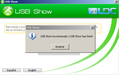 Captura 1 de Usb show para windows