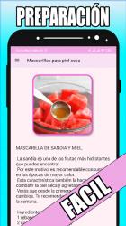Captura de Pantalla 6 de Mascarillas naturales en casa para android