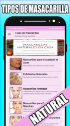 Captura de Pantalla 4 de Mascarillas naturales en casa para android