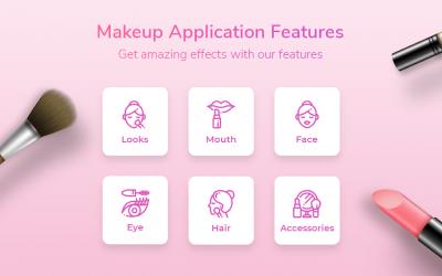 Captura de Pantalla 8 de Maquillaje facial y cámara editor de fotos para android