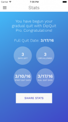 Captura de Pantalla 2 de DipQuit Pro: Quit Dipping Smokeless Tobacco para android