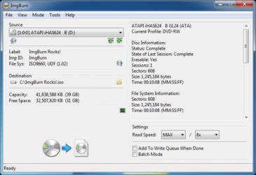 Screenshot 4 de ImgBurn para windows