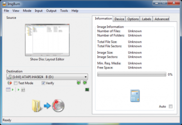 Screenshot 1 de ImgBurn para windows