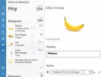 Screenshot 2 de Diario de los alimentos para windows