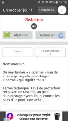 Captura 3 de Un mot par jour para android