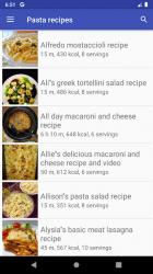 Screenshot 2 de Pasta recipes for free app offline with photo para android